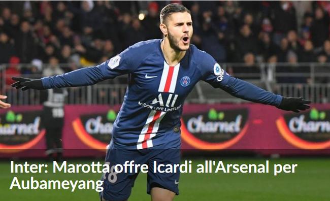 曝国际米兰想要阿森纳头牌 愿拿伊卡尔迪交换