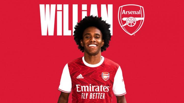 加盟阿森纳后,威廉各赛事仅有两次射正球门
